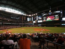 Inside Chase Field in Phoenix, Arizona. Game Day Versus the Atlanta Braves Inside Chase Field in Phoenix, Arizona, Home of the Arizona Diamondbacks, May 31, 2009 Stock Images