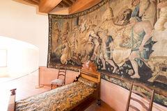 Inside the Chateau de Gruyères, Switzerland Stock Photos