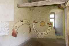 Inside the Chateau de Gruyères, Switzerland Royalty Free Stock Photography