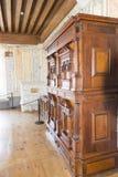 Inside the Chateau de Gruyères, Switzerland stock images