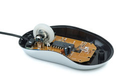 Inside the cheap optical mouse Stock Image