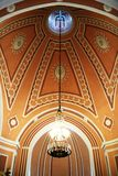Inside Chesme Kościelny rosyjski kościół prawosławny w świętym Petersburg, Rosja Fotografia Stock