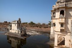 Inside the Chittorgarh fort aera Royalty Free Stock Images