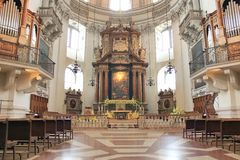Inside the Christian church in Salzbrug Stock Photos