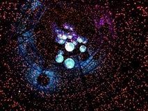 Inside a Christmas tree Stock Image
