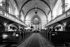 Inside the church. Royalty Free Stock Photo