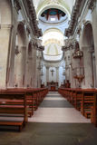 Inside the church. Main nave of chiesa madre in avola Royalty Free Stock Images