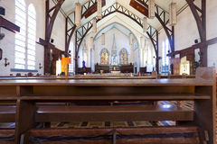 Inside of church Royalty Free Stock Photo
