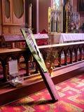 Inside a Church. A photo of a cross inside a church Stock Images