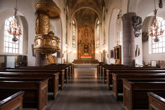 Inside the church. Royalty Free Stock Photography