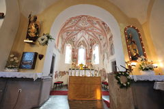 Inside of a church, altar. Inside of a church, altar in an apse Royalty Free Stock Image
