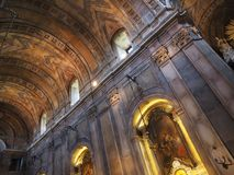 Inside in Basilica da Estrela in Lisbon stock image