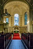 Inside of a church. In Berlin, Germany Royalty Free Stock Image