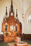 Inside the church at the Casey Solanus Center. Detroit, MI, USA - October 2nd, 2016: Inside the church at the Casey Solanus Center royalty free stock images