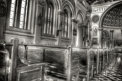 Inside church Royalty Free Stock Image