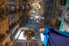 Inside the church Stock Image