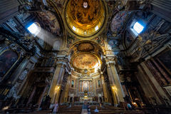 Inside the Church of the Gesu in Rome Royalty Free Stock Image