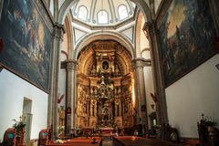 Inside a Church, Historic center of Mexico City, Mexico Stock Image