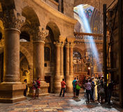 Inside the Church of the Holy Sepulchre. Royalty Free Stock Image