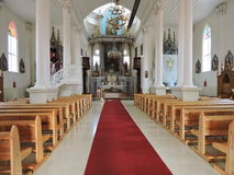 Inside of a church, Lithuania Stock Image