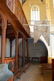 Inside the church of the medieval fortified church Biertan, Transylvania Royalty Free Stock Images