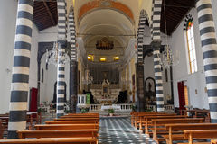 Inside the church of Monterosso Stock Image