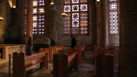 Inside Church of Nations in Jerusalem stock video footage