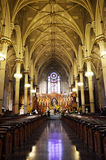 Inside church in New york. USA Royalty Free Stock Image