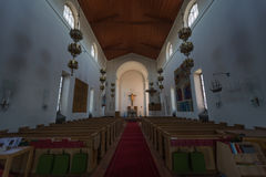 Inside the Church of Nynashamn, Stockholm, Sweden. 03.08.2016 Nynäshamn Sweden`s Nynäshamn. - A port city in Sweden, located in Stockholm county on the royalty free stock photography