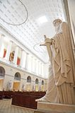 Inside of the Church of Our Lady, Copenhagen cathedral, Denmark royalty free stock image