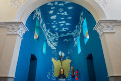 Inside church. Is paint beautiful Royalty Free Stock Photos