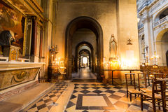 Inside a Church in Paris Royalty Free Stock Photography