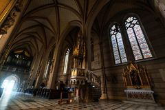 Inside the Church Of St. Mauritius in Olomouc, Day foto. Royalty Free Stock Photography