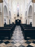 Inside Church. Take the photo in Hong Kong shang wan on 20 th Apr 2017 Stock Images