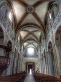 Inside churk bobbio italy. Inside of church in bobbio italy Royalty Free Stock Images