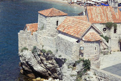 Inside the Citadel of old town of Budva, Montenegro. View from top Stock Images