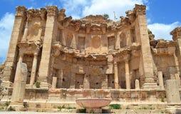 Inside the City. Ancient ruins of Jerash, Jordan royalty free stock image