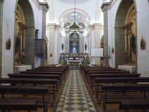 Free Inside City Church Igreja Matriz Da Fuseta At The Algarve Coast Of Portugal Royalty Free Stock Photography - 215734557
