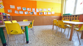 Inside a classroom of the school Stock Photography