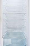 Inside a clean fridge with empty shelves Royalty Free Stock Photography