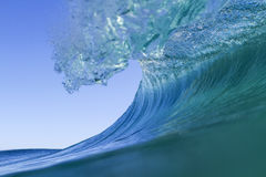 Inside a clear wave Stock Images