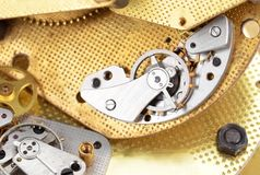 Inside the clock (clockworks) Royalty Free Stock Photos