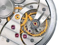 Inside the clock (clockworks) Royalty Free Stock Image