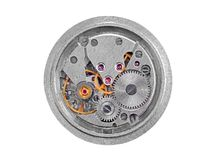 Inside the clock (clockworks) Royalty Free Stock Images