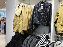 Inside the clothing store at Azrieli Department Store in Rishon Le Zion Royalty Free Stock Photos