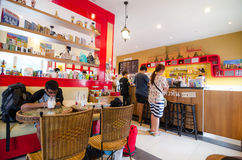 Inside coffee shop. Stock Photos