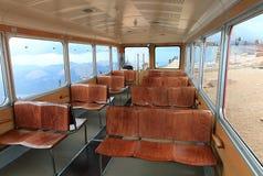 Inside cog railway car Stock Image