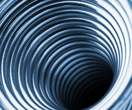 Inside the coiled metal springs Royalty Free Stock Images