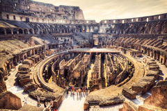 Inside Coliseum Stock Photo