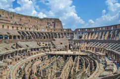 Inside of Colloseum. Inside, catacombs of Colloseum, Rome, Italy Royalty Free Stock Photos
